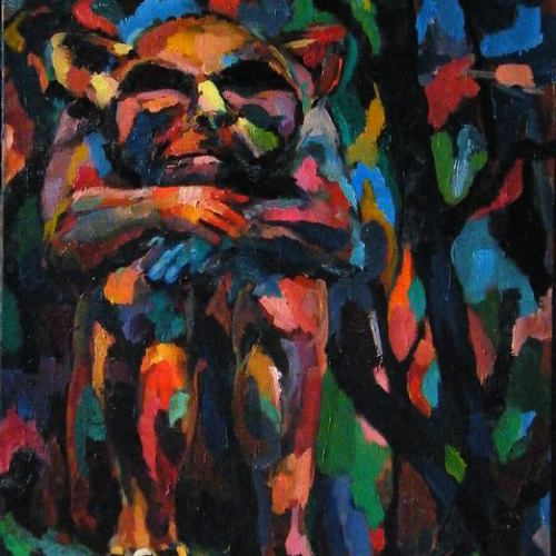 Gargoyle, Boston, 20X24in, oil on canvas, 2015